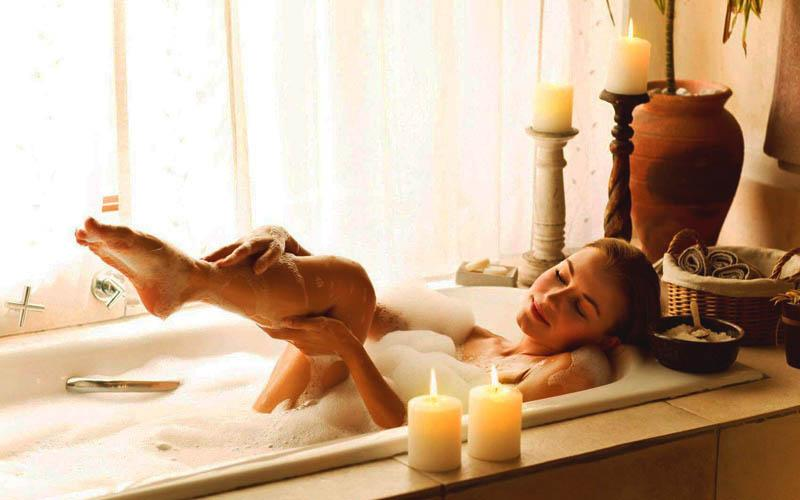 Принятие ванны при миоме