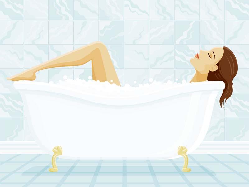 Нащупывание шейки матки при подмывании