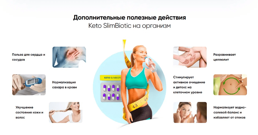 Keto SlimBiotic - новейшая добавка для похудения на основе Кетогенной диеты улучшающая работу мозга (скидка по акции - 147 рублей*)!